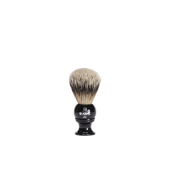 black resin shaving brush