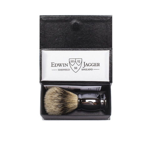 chrome bulbous shaving brush