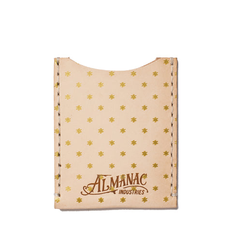 almanac flat card case raw gold dots