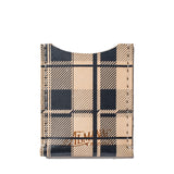 almanac flat card case raw navy plaid