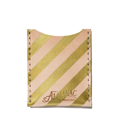 almanac flat card case raw gold stripes