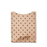 almanac flat card case raw navy dots