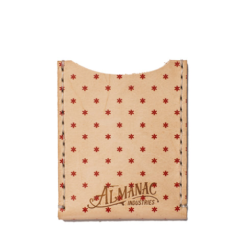 almanac flat card case raw red dots