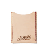 almanac flat card case raw red stitch