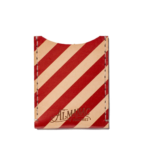 almanac flat card case raw red stripes