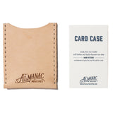 almanac flat card case raw white stitch with card