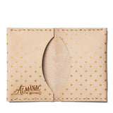 almanac folded card case raw gold dots