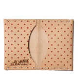 almanac folded card case raw red dots