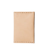 almanac folded card case raw white stitch side