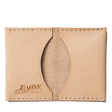 almanac folded card case raw white stitch