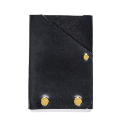 american bench craft brass riveted leather front pocket wallet black back