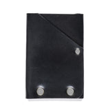 american bench craft steel riveted leather front pocket wallet black back