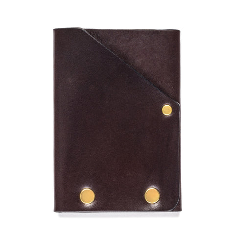 american bench craft brass riveted leather front pocket wallet brown back