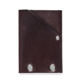 american bench craft steel riveted leather front pocket wallet brown back