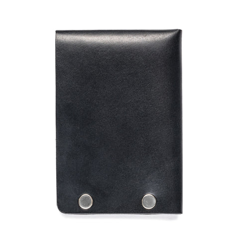 american bench craft steel riveted leather half wallet black back
