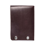 american bench craft steel riveted leather half wallet brown back