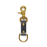 american bench craft brass riveted leather key fob black