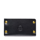 american bench craft brass riveted leather cardholder black front