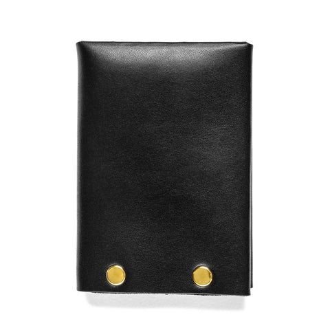 american bench craft brass riveted leather wallet black back
