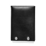 american bench craft steel riveted leather wallet black back
