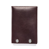american bench craft steel riveted leather wallet brown back