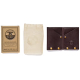 american bench craft riveted leather wallet with packaging