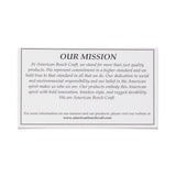 american bench craft riveted leather wallet mission card