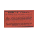 american bench craft riveted leather wallet instruction card