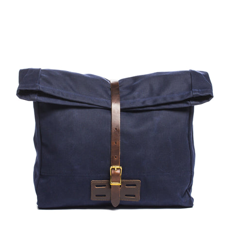 archival roll top messenger ranger navy front without strap