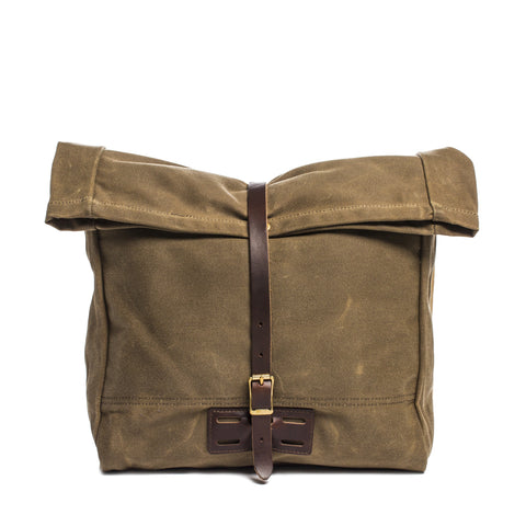 archival roll top messenger ranger tan front without strap