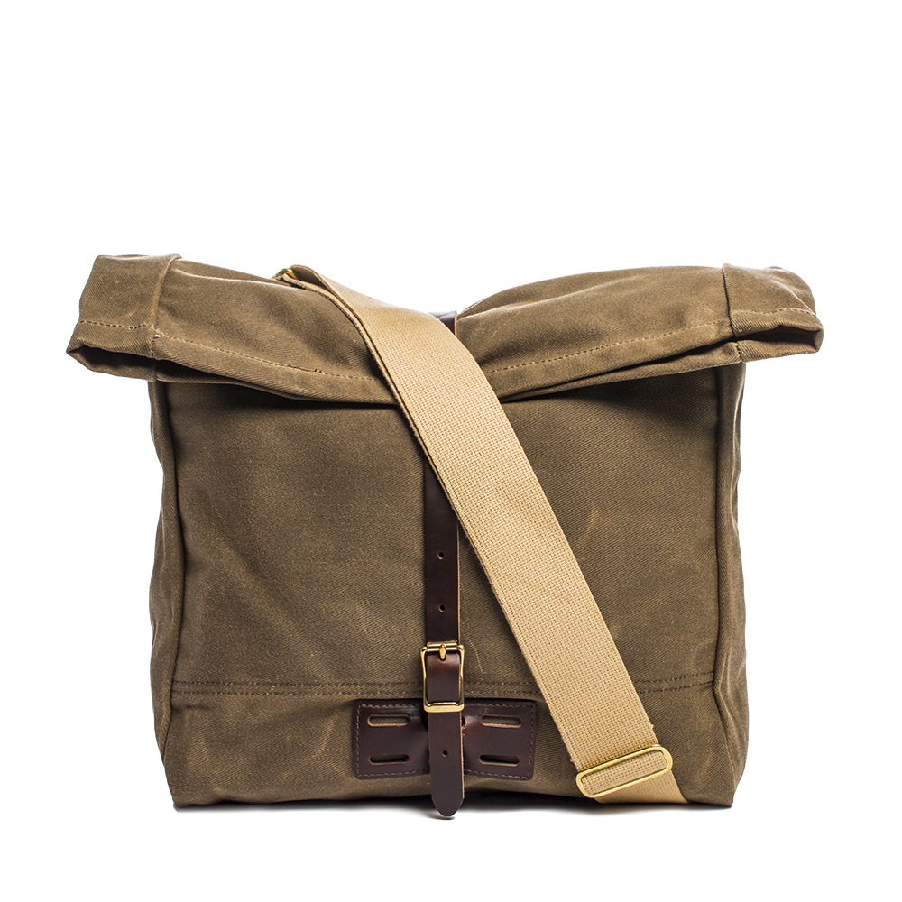 Archival Clothing Roll Top Messenger Bag Made In Usa