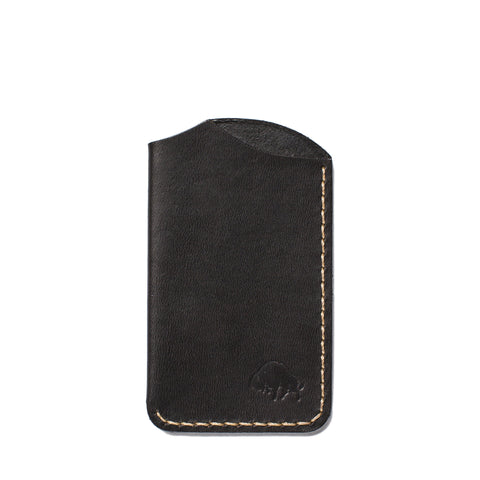 bison made no 1 wallet jet top stitch