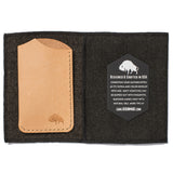 bison made no 1 wallet natural detail