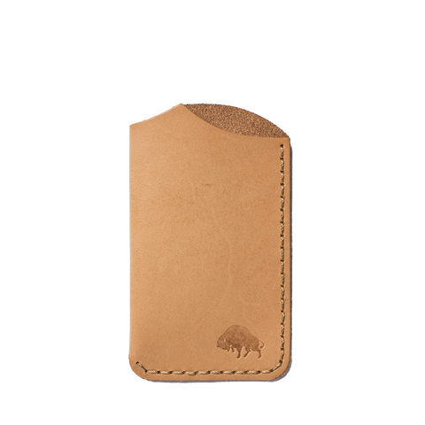 bison made no 1 wallet natural front