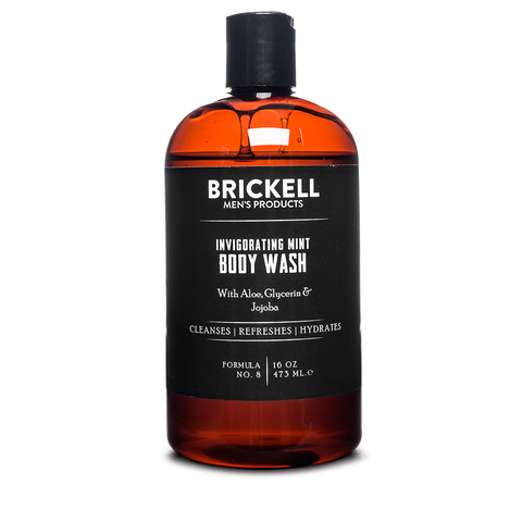 brickell invigorating mint body wash front
