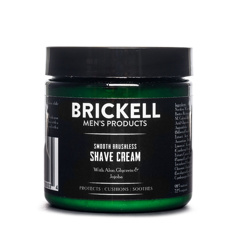 brickell smooth brushless shave cream front