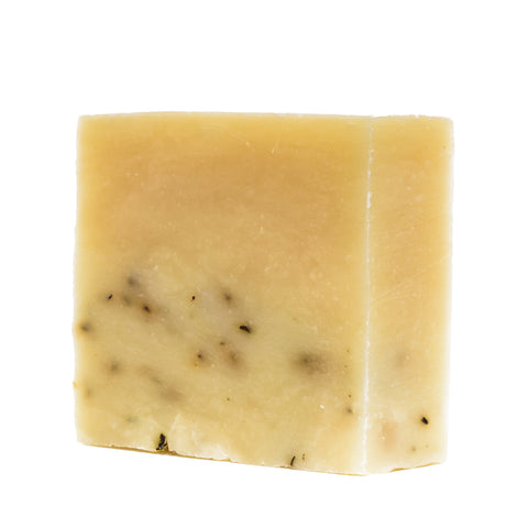 brickell mint soap scrub bar front angle