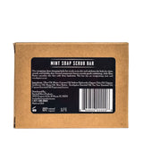 brickell mint soap scrub bar back package