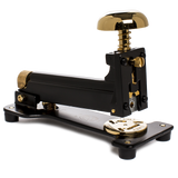 el casco large stapler black and gold front angle