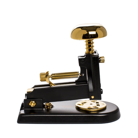 el casco small stapler black and gold front