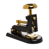 el casco small stapler black and gold front angle