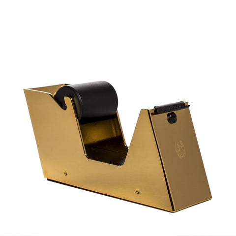 el casco tape dispenser black and gold angle