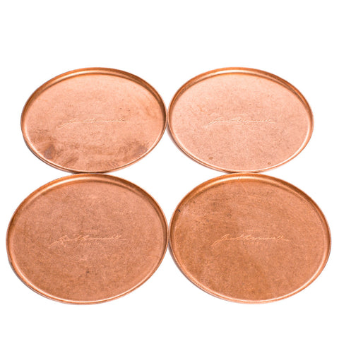 jacob bromwell elegant copper coasters set