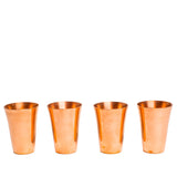 jacob bromwell fluted pure copper shot glasses