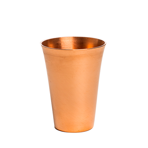 jacob bromwell fluted pure copper shot glass
