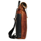 Craft & Caro x LTHR Supply Ruckpack bourbon left side
