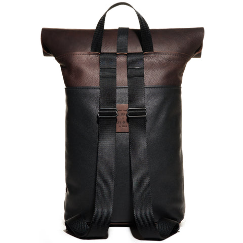 Craft & Caro x LTHR Supply Ruckpack walnut back