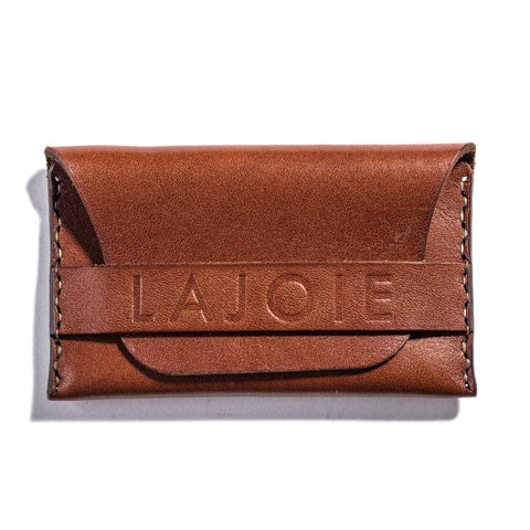 Lajoie card pocket wallet natural front