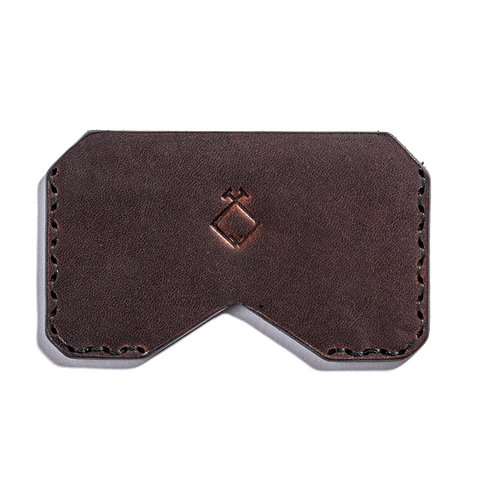 Lajoie mini pocket wallet cognac front