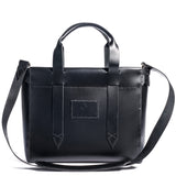 Lajoie palais shoulder tote black front w/shoulder strap